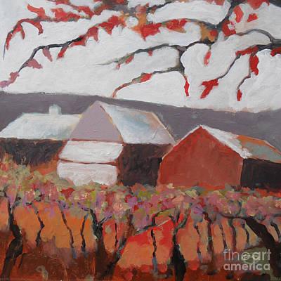 Autumn Vineyard #2 Art Print by Kip Decker
