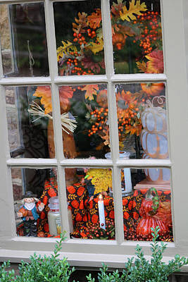 Photograph - Autumn Window by Living Color Photography Lorraine Lynch