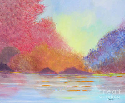 Painting - Autumn's Aura by Stacey Zimmerman