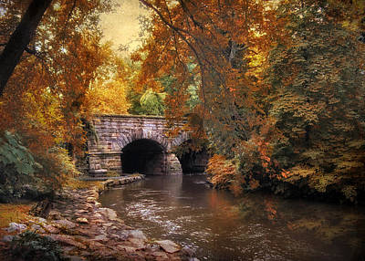Fall Landscape Digital Art - Autumn's Ebb by Jessica Jenney