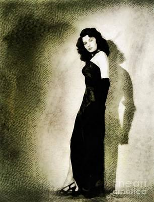 Musicians Royalty Free Images - Ava Gardner, Vintage Actress Royalty-Free Image by John Springfield