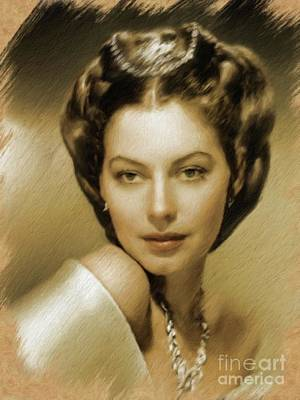 Painting - Ava Gardner, Vintage Actress by Mary Bassett