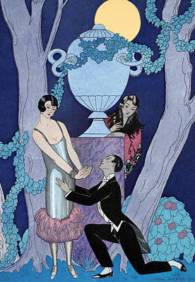 Moonlit Painting - Avarice by Georges Barbier