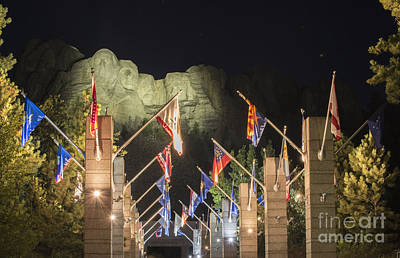 Hand Carved Photograph - Avenue Of Flags by Juli Scalzi