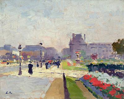 Louvre Painting - Avenue Paul Deroulede by Jules Ernest Renoux