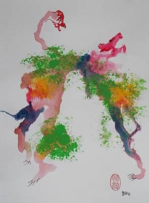 Painting - Avversari Preistorici by Roberto Prusso