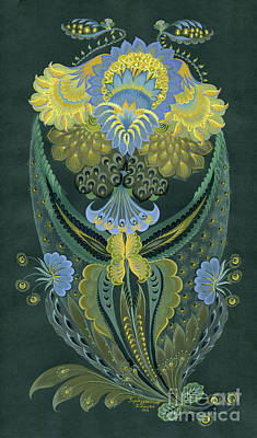 Surreal Pansies Painting - Awakening by Olena Skytsiuk