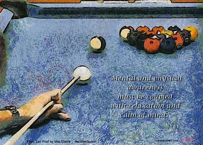 Awareness Zen Pool Art Print by Max Eberle