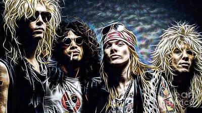 Axl Rose And Slash Guns N Roses Art Print
