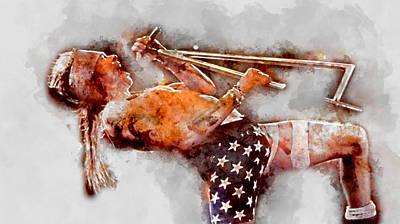Mixed Media - Axl Rose Guns N' Roses by Marvin Blaine