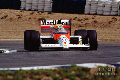 Pyrography - Ayrton Senna. 1989 Spanish Grand Prix by Oleg Konin
