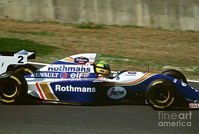 Photograph - Ayrton Senna. 1994 Pacific Grand Prix by Oleg Konin
