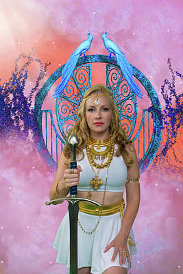 Warrior Goddess Photograph - Azna by David Clanton
