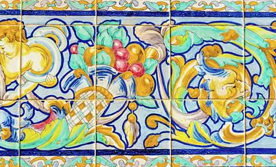 Photograph - Azulejo - Floral Decoration by Andrea Mazzocchetti