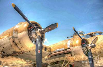 Photograph - B - 17 Flying Fortress by David Bearden