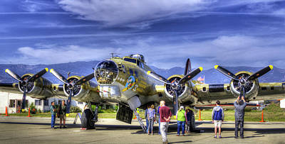 Photograph - B-17 by Joe  Palermo