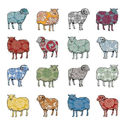 Pattern Digital Art - Baa Humbug by Sarah Hough