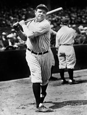Baseball Players Photograph - Babe Ruth by American School