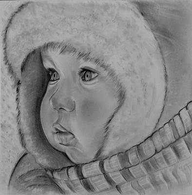 Drawing - Baby Its Cold Outside by Barb Baker