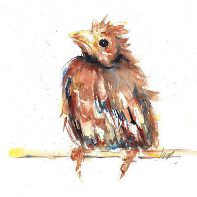 Painting - Baby Cardinal - New Beginnings by Jacki Kellum