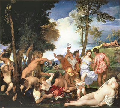 Photograph - Bacchanal Of The Andrians by Titian