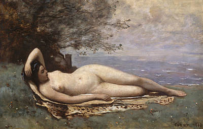 Painting - Bacchante By The Sea by Jean-Baptiste-Camille Corot