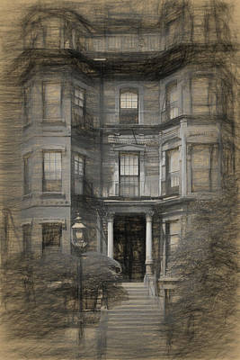 Drawing - Back Bay Boston by Thomas Logan