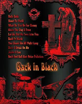 Digital Art - Back In Black by Michael Damiani