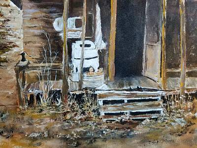 Back Porch Painting - Back Porch  by William Clanton
