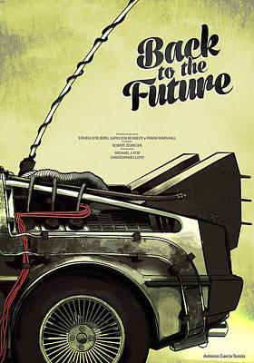Back To The Future Delorean Part 1 Art Print