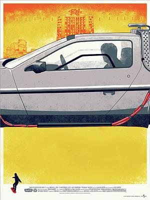 Back To The Future Delorean Part 2 Art Print