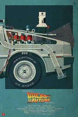 Back To The Future Delorean Part 3 Art Print