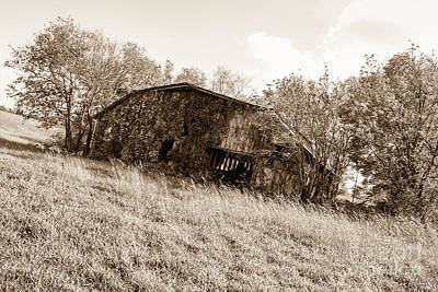 Photograph - Back When Barn Sepia by Jennifer White