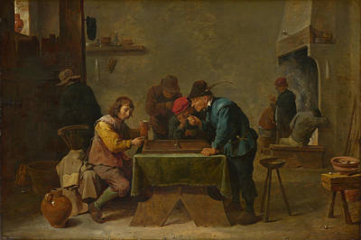 Digital Art - Backgammon Players by David Teniers the Younger