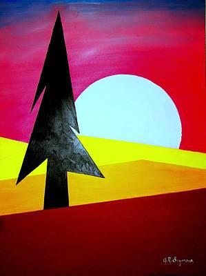 Big Bad Moon Rising Art Print by J R Seymour