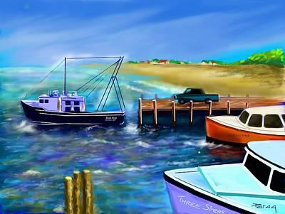 Digital Art - Bada Bing Goes Fishing by Parag Pendharkar