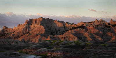 Photograph - Badlands Sunrise by Don Anderson