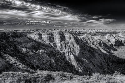Photograph - Badlands by Wayne Sherriff