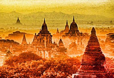 Bagan Pagodas Art Print by Dennis Cox WorldViews