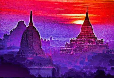 Bagan Sunrise Art Print by Dennis Cox WorldViews