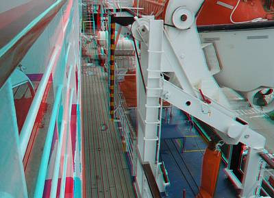 Photograph - Bahama Celebration - Anaglyph by Ron Davidson