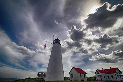New England Photograph - Bakers Island Lighthouse Salem by Jeff Folger