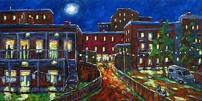 City Scape Painting - Balconville by Richard T Pranke