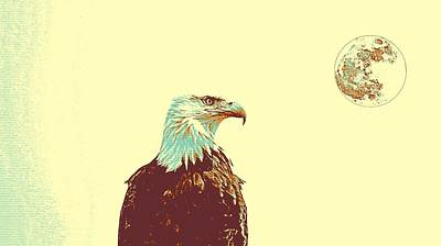 Yellow Beak Painting - Bald Eagle 2 by Celestial Images