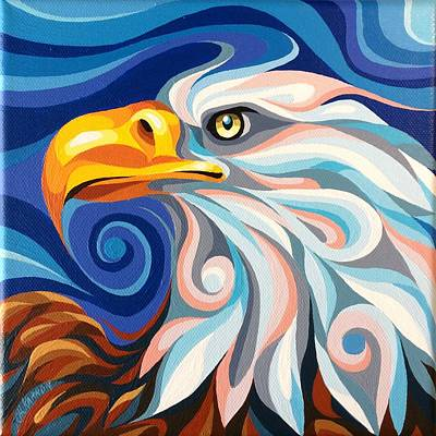 Painting - Bald Eagle by Christine Karron