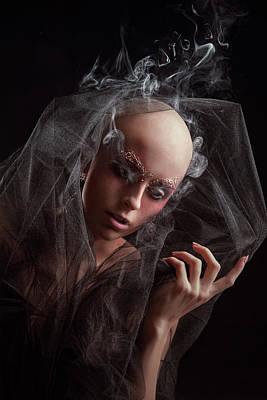 Baldhead Woman Art Print by Evgeniia Litovchenko