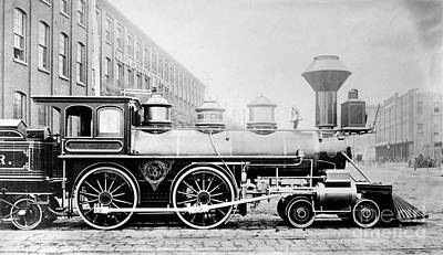 Photograph - Baldwin Locomotive, 1870 by Granger