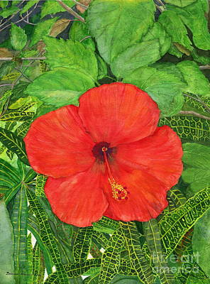 Painting - Balinese Hibiscus Rosa by Melly Terpening