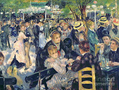 Crowd Scene Painting - Ball At The Moulin De La Galette by Pierre Auguste Renoir