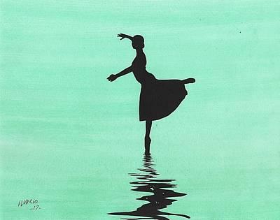 Painting - Ballerina by Edwin Alverio